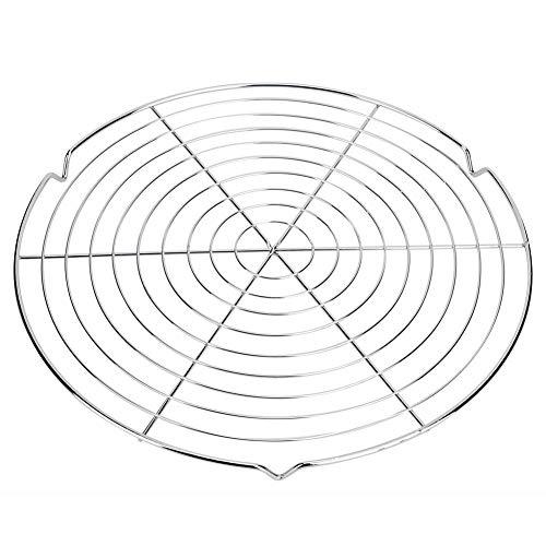 TOPINCN Rejilla de rejilla de alambre para barbacoa, rejilla de metal, forma redonda, parrilla, refrigeración al vapor al aire libre, jardín, camping, picnic herramienta