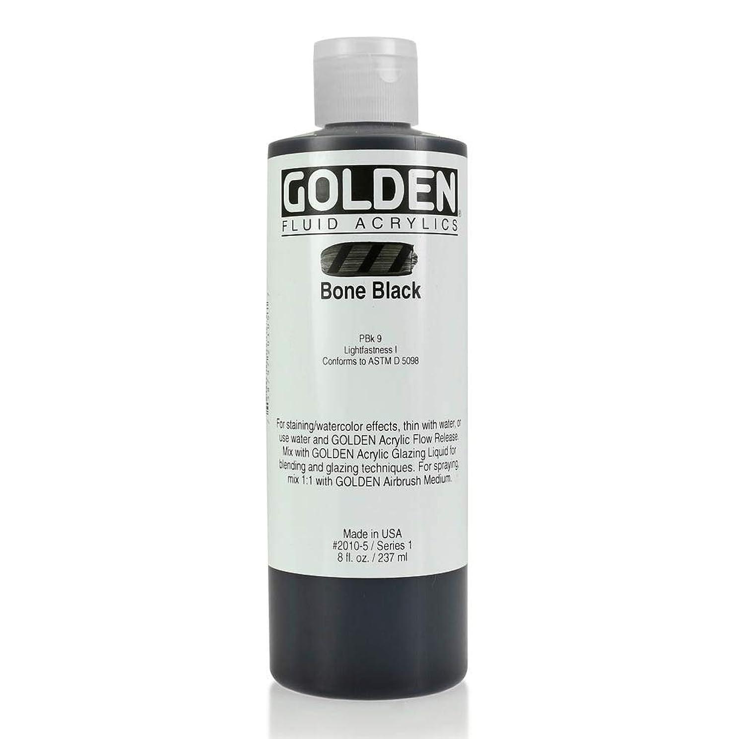 Golden Fluid Acrylics - Bone Black 8 oz bottle