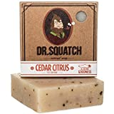 Dr. Squatch Mens Cedar Citrus Soap – Natural Exfoliating Soap Bar for Men with Cedarwood,...