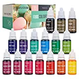 JIM'S STORE Set de Colorante 16*11ml,Colorante Alimentario Alta Concentración Liquid Set para Colorear los Bebidas Pasteles Galletas Macaron Fondant