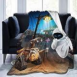Wa-Ll-E Ultra Soft Throw Blanket Flannel Fleece All Season Light Weight Sofa Couch Living Room/Bedroom Warm Blanket,Black ,50'' X40