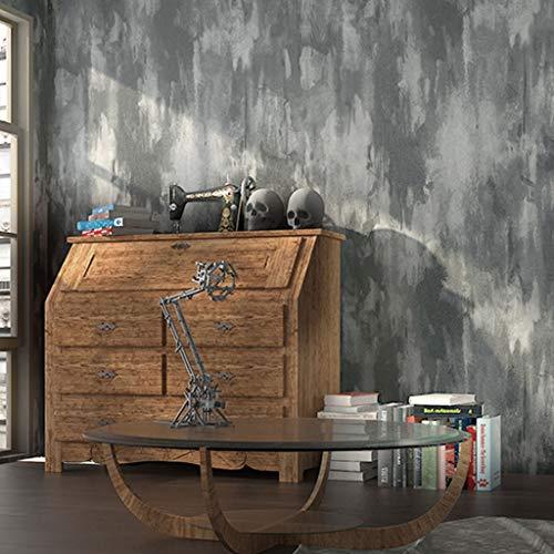 Papel Pintado Wallpaper No tejido de material de cemento pintado retro estilo industrial gris del papel pintado Adecuado for Restaurantes Tiendas de ropa Tiendas de café etc. ( Color : Light gray )