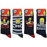 DC Comics Simpsons Herren-Knöchelsocken, verschiedene Designs, sortiert, erhältlich in 4 verschiedenen Farben, Größen 39-46 Gr. One size, Mad Man