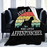 Just A Girl Who Loves Affenpinscher Dog Ultra-Soft Micro Fleece Blanket Comfortable Warm Anti-Pilling Flannel Blanket Sofa Bed Outdoor Blanket Gifts 50'X40'