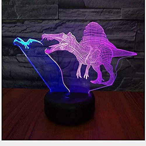 Nuevo Flying Dragon Led 3D Dos colores Luz nocturna Pequeño control remoto Colorido táctil Luz estéreo Luz de regalo