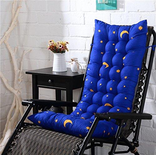 XFXDBT Verdicken Liege Chaise Kissen Rocking Chair Pad Falten Rattan Stuhl Kissen Für Startseite Büro Garten Relaxer Stuhl Kissen(Kein Stuhl)-A 155x48cm(61x19inch)