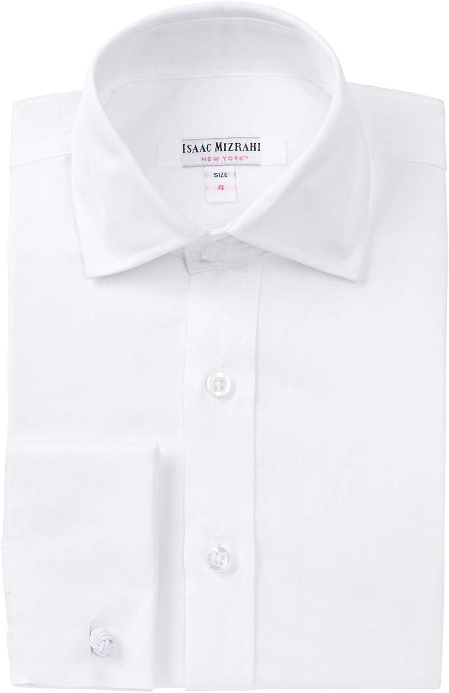 Isaac Mizrahi Boys 100% Cotton Twill Dress Shirt - (Available in Many Styles)