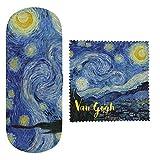 VAOFO Van Gogh 523448 Astuccio Custodia per Occhiali, Tessuto in Microfibra, Modello Notte Stellata