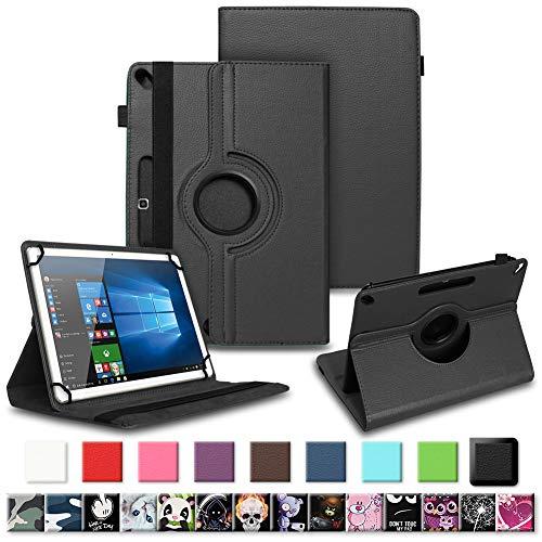 NAUC Tablet Tasche für Acepad A96 Hülle Schutzhülle aus hochwertigem Kunstleder Standfunktion 360° Drehbar Universal Case, Farben:Schwarz