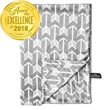 "Kids N' Such Minky Baby Blanket 30"" x 40"" - Grey Arrow - Soft Swaddle Blanket for Newborns and Toddlers - Best for Boys or Girls Crib Bedding, Nursery, and Security - Plush Double Layer Fleece Fabric"