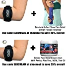 Simien Tennis Elbow Brace (2-Count), Tennis & Golfer's Elbow Pain Relief with Compression Pad, Wrist Sweatband and E-Book #3