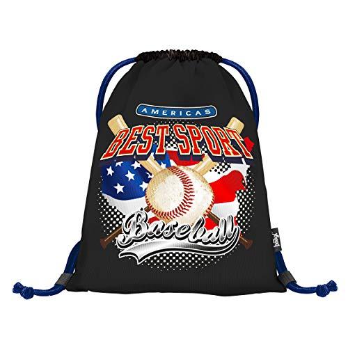 Drawstring Backpack for Kids, Gym Bag for Boys and Girls, String Gym Sack for Baseball Sports Beach, Children Sackpack (Baseball Best Sport)