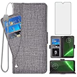 Asuwish Compatible with Moto G7/G7+/Revvlry Plus Wallet