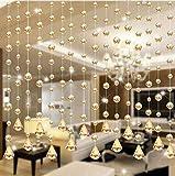 PULABO 1 lusso perline di vetro porta stringa nappa tenda divisorio matrimonio pannello decorazione stanza oro confortevole e rispettoso dell'ambiente