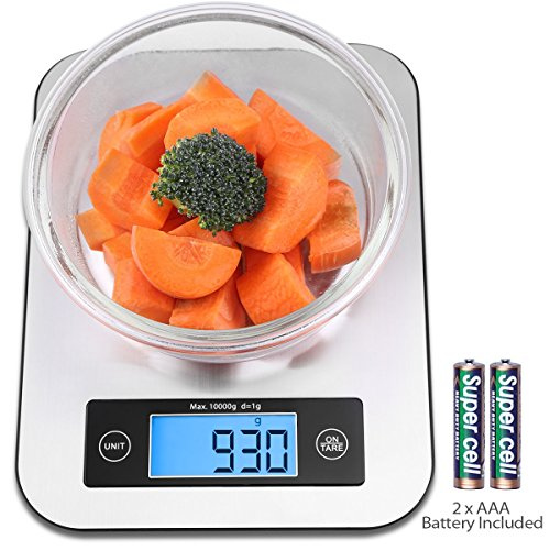 Digital Kitchen Food Scale, Small Cooking Scale with Stainless Steel...