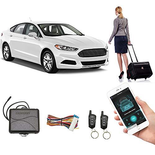 Old Car Upgrade Keyless Entry Close Windows Open Trunk Automatically, 3 Ways Lock/Unlock The Car- Shaking Phone/App Control/Phone Sensor