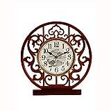 Fengshop Orologio Digitale Orologio da Tavolo in Stile Cinese Soggiorno Orologio Domestico Simple Modern Atmosfera Moderna Mute in Legno massello Desktop Desktop Ornamenti Desktop Sveglia Digitale