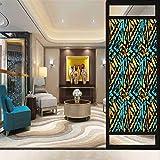 Grunge - Adesivo in vetro 3D senza colla per finestra, motivo astratto di arte stradale sotterranea, per pareti sotterranee, per finestre di casa, controllo del calore, 45 x 89,9 cm