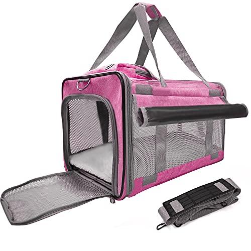 BELPRO Transporttasche Katze und Kleine Hunde,Haustiertragetasche,Faltbare Hundetragetasche,Haustiertragetasche