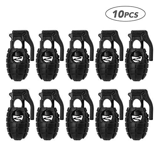 Lepeuxi 10 unids Cerraduras de Cable de plástico Final de Primavera Parada Toggle Stoppers Acampar al Aire Libre Mochila Senderismo Cordones de los Zapatos Clips rápidos