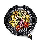 Elite Gourmet EMG-980B Indoor Electric Grill, 14' Round, Black
