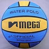 Polo de agua Mega, diseño azul y amarillo, tamaño 5