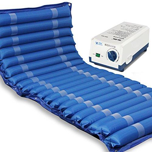Guo @ Colchón de masaje con presión de aire Colchoneta de masaje con antiescaras Cuidado de una cama individual Paciente anciano paralizado Paciente Masaje corporal completo con orificio (azul) Sistem
