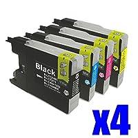 LC12-4PK 4色セットx4 16個セット brother(ブラザー)対応 高品質互換インクカートリッジ 残量表示機能対応