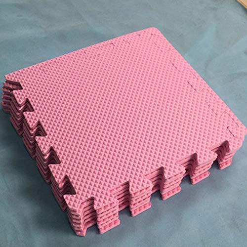 Puzzel Oefening Speelmat Schuim in elkaar grijpende tegels Tegels Gymmat Trainingsmatten Beschermende vloeren Anti-vermoeidheid met EVA-schuim (10 tablets) -,Pink,30 x 30 x 0.8cm