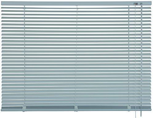 mydeco® 90 x 175 cm Aluminium Jalousie Edelstahl; inkl. Bedienstab, Deckenträger + Befestigungsmaterial Innenjalousie Sonnen- und Sichtschutz; fein regulierbar
