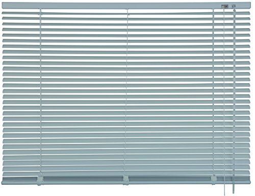 mydeco® 120 x 175 cm Aluminium Jalousie Edelstahl; inkl. Bedienstab, Deckenträger + Befestigungsmaterial Innenjalousie Sonnen- und Sichtschutz; fein regulierbar