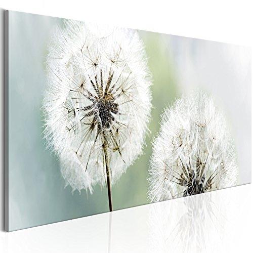 murando - Bilder Pusteblume 120x40 cm Vlies Leinwandbild 1 TLG Kunstdruck modern Wandbilder XXL Wanddekoration Design Wand Bild - Blumen Natur grau grün Pusteblumen b-B-0223-b-c