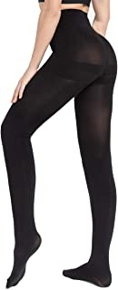 2 Pairs Graduated Opaque Tights Run Resistant Control Top Panty Hose