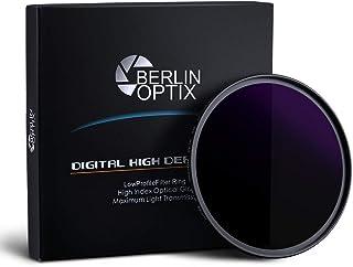 Berlin Optix Filtro Premium ND 49 mm ∙ ND1000 Filtro Gris 49 mm ∙ Absorbe efectivamente la luz incidente fotografía de paisajes y Arquitectura