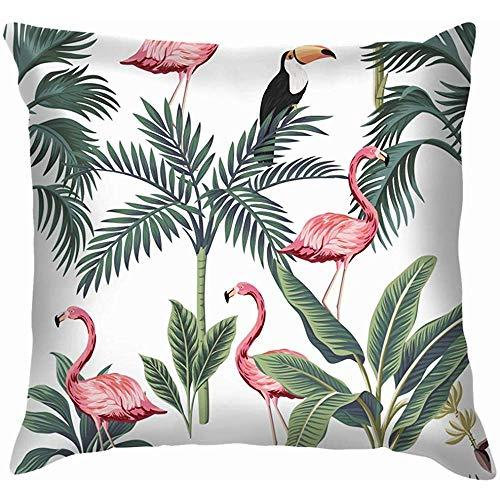 NA Tropische Vintage Flamingo Tukan Palmen dieren Wildlife Floral Home Sofa kussensloop kussensloop
