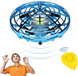 Hand Operated Drones for Kids or Adults, Easy Indoor Small Orb Flying Ball Drone Toys for Boys or Girls, UFO Flying Ball Toys with with LED Lights (Remote Controller Include)