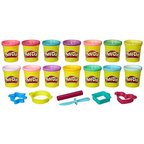 Play-Doh Klei voor prinsessen, met zes glitterkleuren en zes knutsels, klei voor fantasierijk en creatief spelen