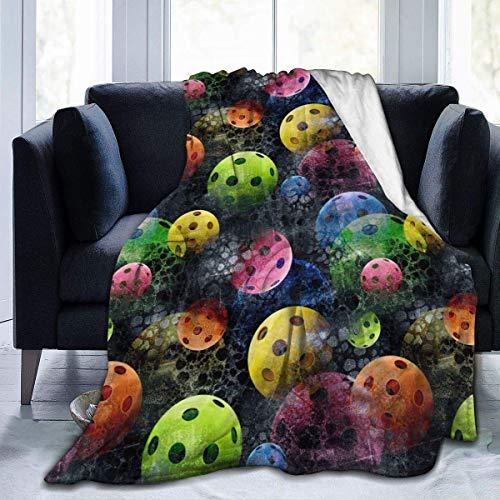 Pickleball - Manta de forro polar con impresión de canapé para sofá, cama, 152 x 200 cm