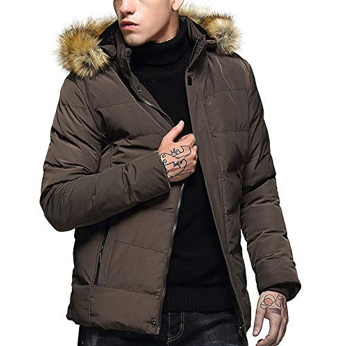 Setsail Herren Wintermode Hoodie Reine Farbe verdickt Baumwolle gepolsterte Jacke Herrentel Warme Jacke