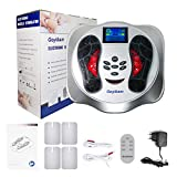 Foot Circulation Device, Nerve Muscle Stimulator, EMS Foot Massager for Neuropathy, Relieves Feet Legs & Ankles Pains, Relaxes and Massages Body with TENS Unit (Gray)
