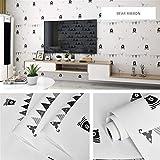 kengbi Einfach zu dekorieren, beliebte langlebige Tapete, modernes minimalistisches Muster, Wandtapete, PVC, wasserdicht, selbstklebend, für Schlafsaal, Schlafzimmer, Wandaufkleber, Schränke, Möbel