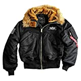 Alpha Industries Herren Winterjacke 45P Hooded Custom, Schwarz, Gr. XL
