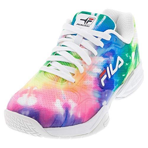 FILA Women Volley Zone Shoes, Color: Mult/Mult/Wht, Size: 9.5 (5PM00597-775-9.5)