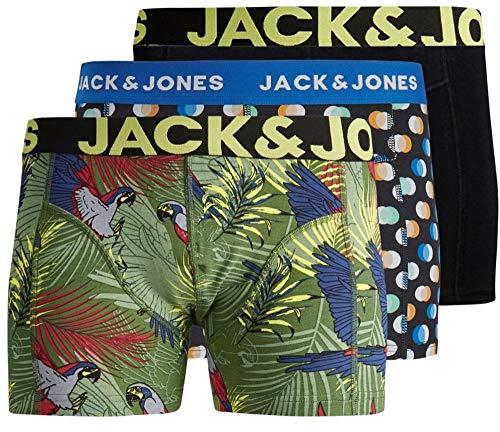 JACK & JONES - Calzoncillos Tipo bóxer para Hombre (3 Unidades, algodón)
