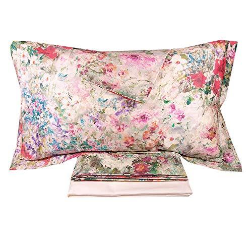 MIRABELLO Art. Fiori di Renoir - Juego de sábanas para cama de matrimonio