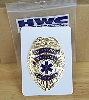 Emergency Medical Technician Badge-EMT Gold with Full Color Seal