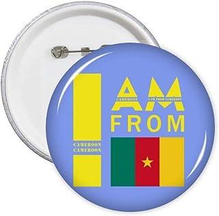 Lot de 5 badges avec inscription « I Am from Cameroun »