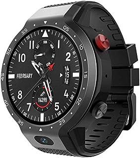 L.TSA Reloj Inteligente Sistema Dual 4G 5MP Cámara Frontal 600Mah Soporte GPS WiFi Pulsera Deportiva de frecuencia cardíaca Negro
