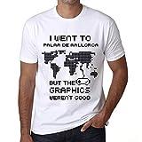 Hombre Camiseta Vintage T-Shirt Gráfico I Went To Palma DE Mallorca Blanco