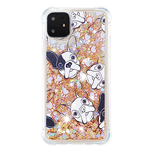 3D Flowing Phone Case for Apple iPhone 11,Soft TPU Bumper French Bulldog Women Phone Case for Apple iPhone 11